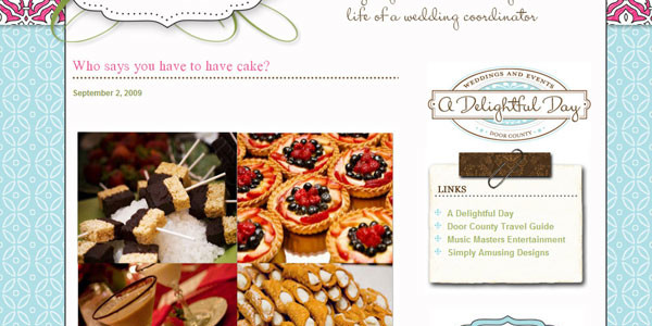 Designing a Wedding Coordinator's Blog