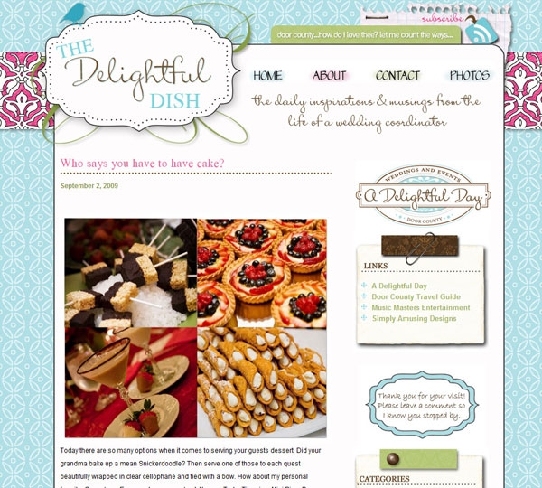 Designing a Wedding Coordinator's Blog