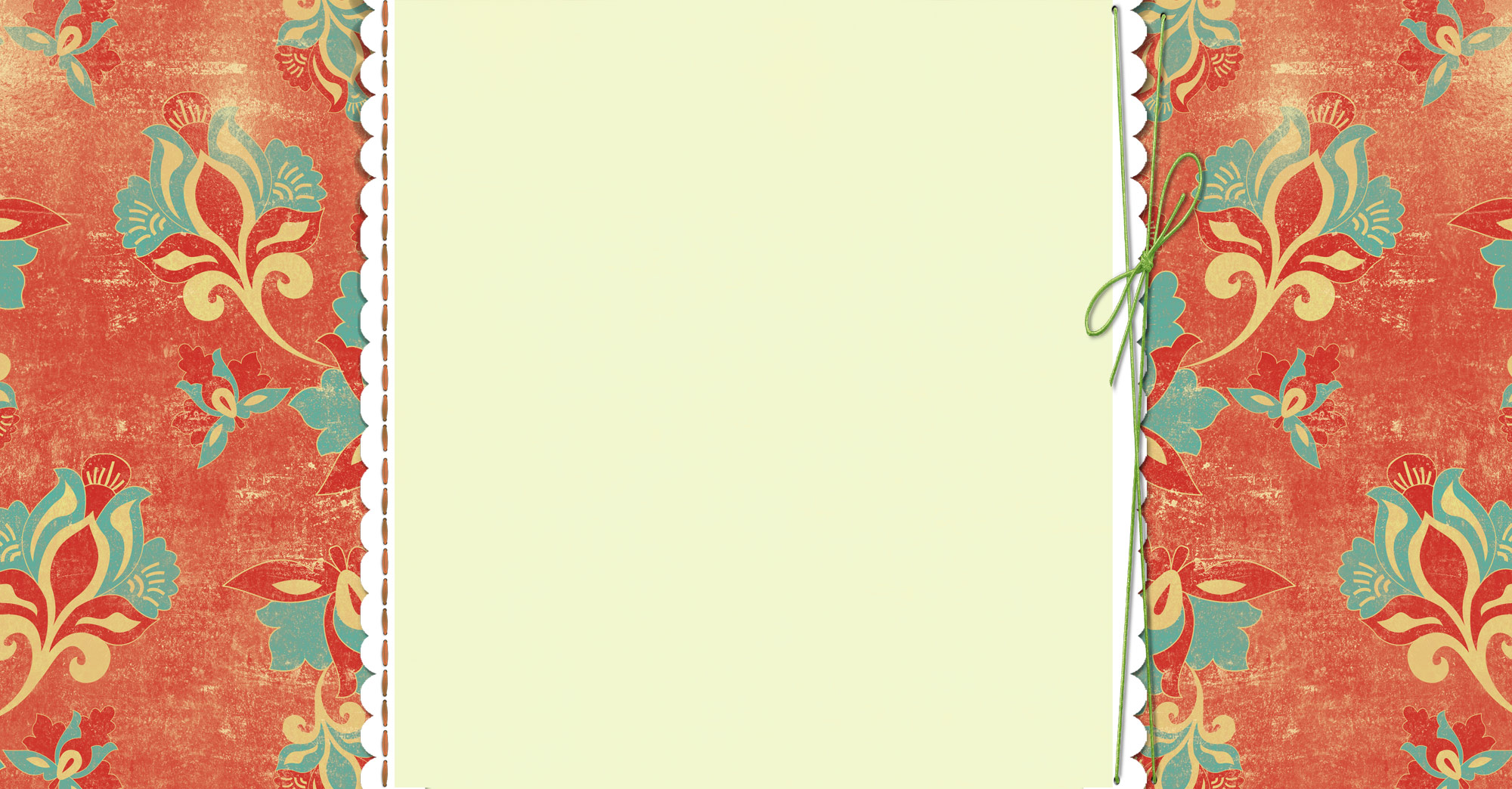 Citrus Floral Free Three-Column Blogger Background