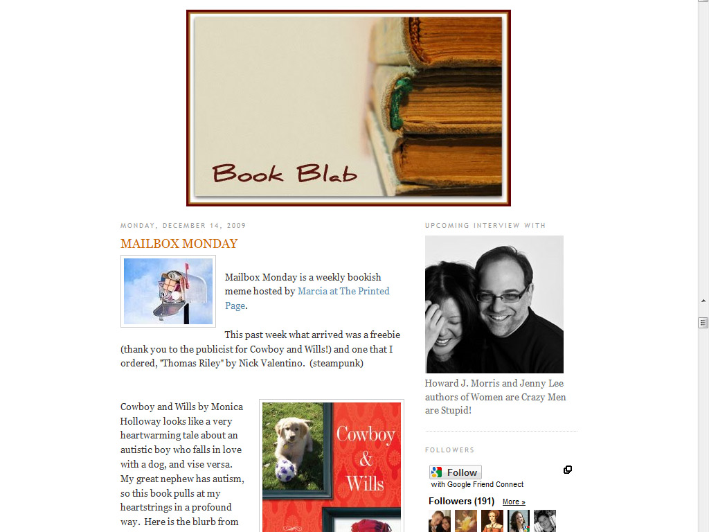 Book Blab Blog