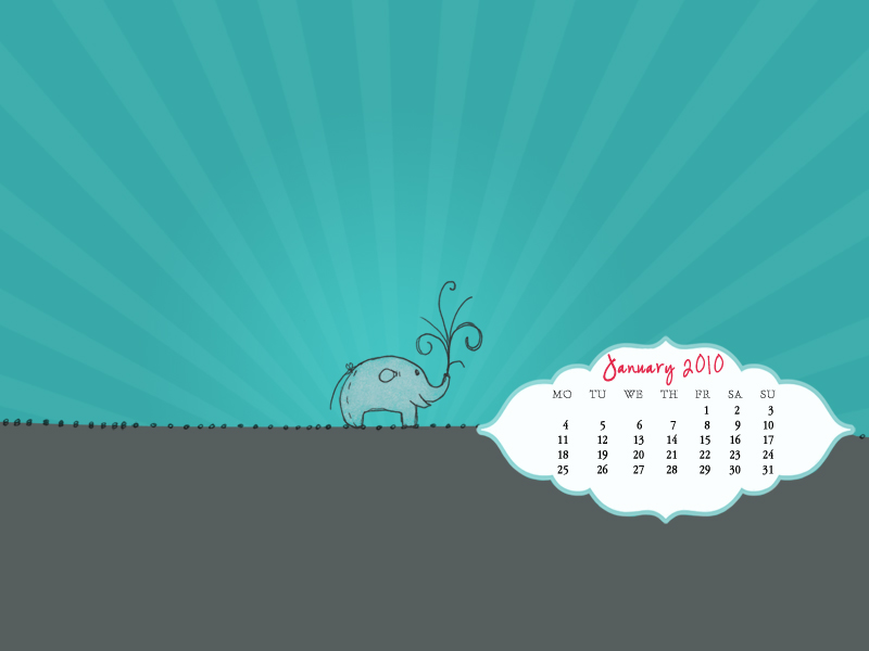 January Freebie – 2010 Desktop Calendar