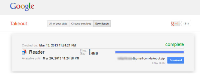 download google reader subscriptions