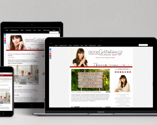 Diane Gottsman Blog Design