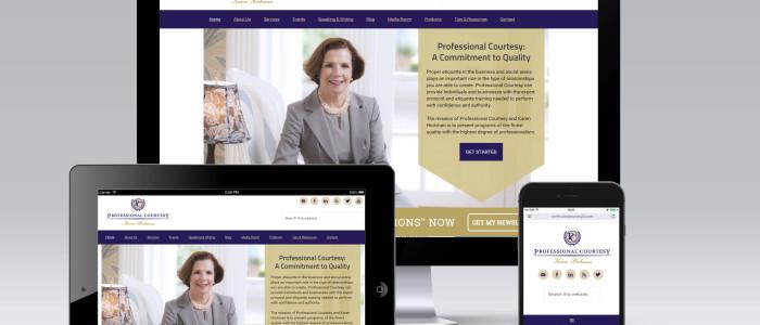 ProfessionalCourtesyllc.com StudioPress Genesis Website Design by Simply Amusing Designs