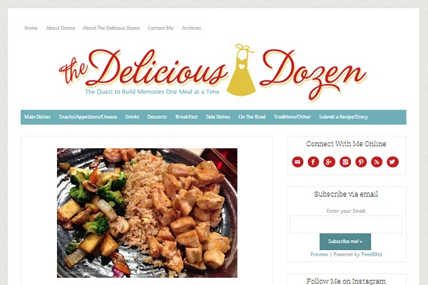 The-Delicious-Dozen Blog Design By Simply Amusing Design