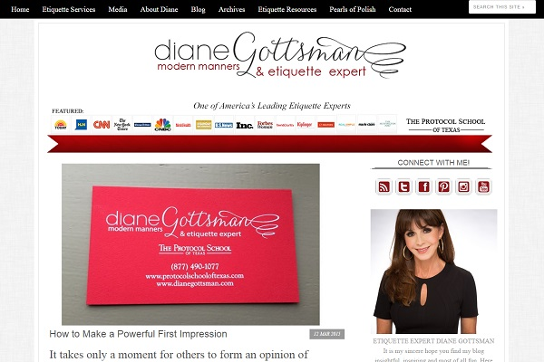 Diane Gottsman 2013 Blog Redesign