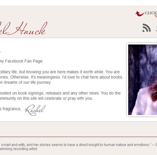 Rachel Hauck Author Facebook Page