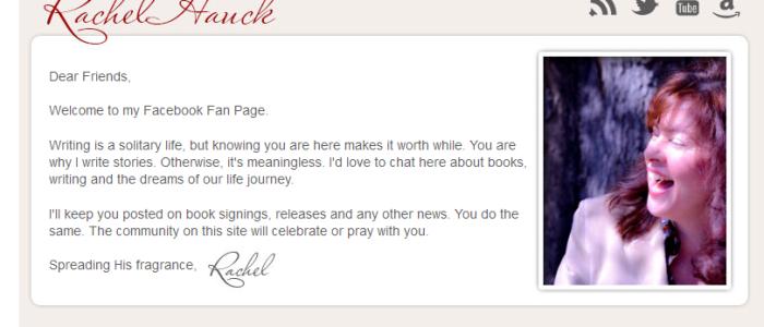 Rachel Hauck FaceBook Page App
