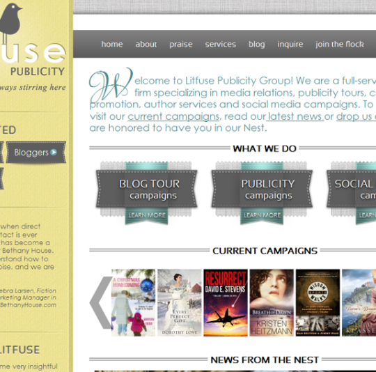Litfuse Publicity Group Website