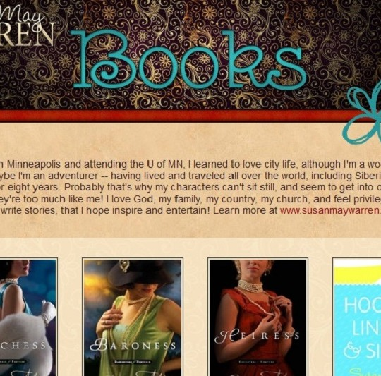 Susan May Warren Books Page for Facebook