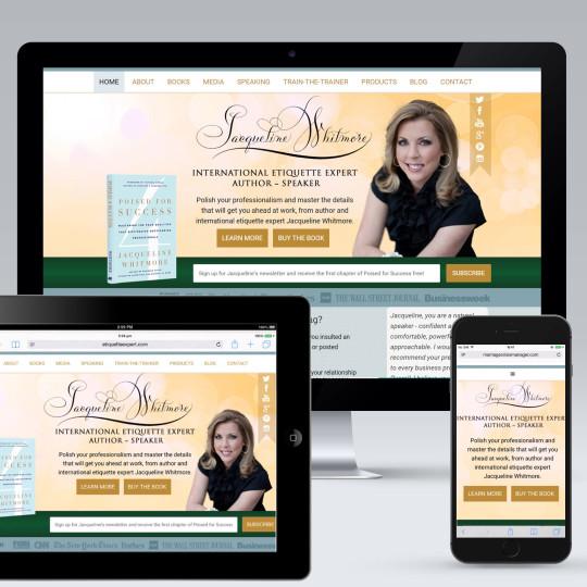 """""""Etiquette Expert"""" Website Redesign"""