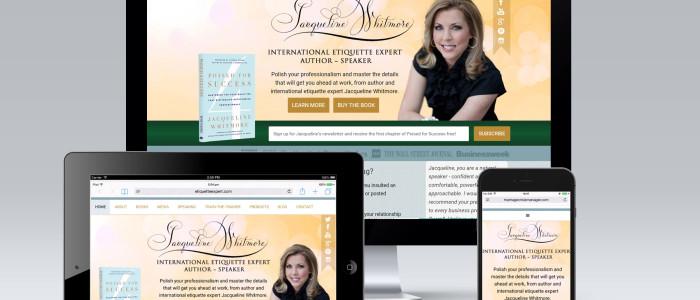 etiquette Expert Website redesign