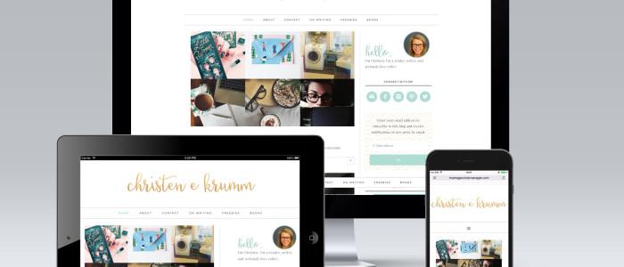Christen Krumm Blog Redesign