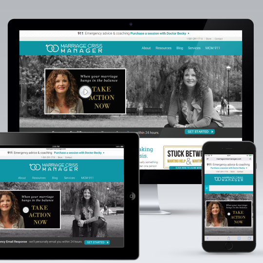 Marriage Crisis Manager Genesis Website Design