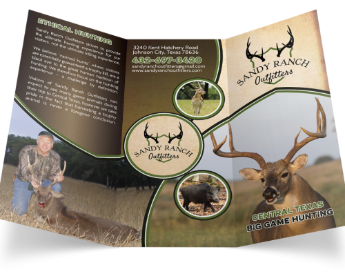 Sandy Ranch Outfitters Hunting Flyer Design